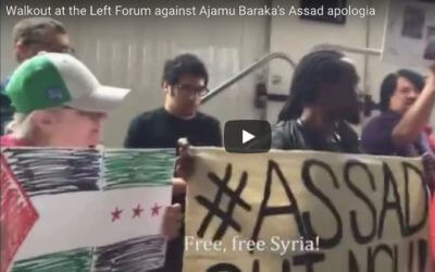 [video] Walkout at the Left Forum against Ajamu Baraka's Assad Apologism