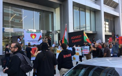 Los Angeles Protest Against Turkish Attack on Kurds